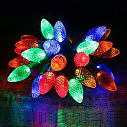 [Commercial Grade]Outdoor Led Decorative String Lights,13 Ft 25 C7 Bulb,Colored Led Christmas Lights,Wedding Party Ga...