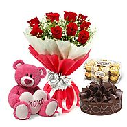 Send Flowers & Cakes for Anniversary Gift From FlowersCakesOnline