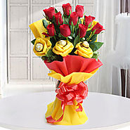 Flowers and Chocolate Combo, Send Flowers and Chocolates to India