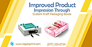 Improved Product Impression can be attained by draping them into Custom Kraft Packaging Boxes