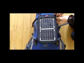 Attaching the Fuse Solar Charger to a Backpack
