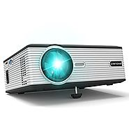 Crenova XPE470 Mini LED Video Projector Office Projector Outdoor/Indoor Home Projector (Supports 1080P via USB Drive,...