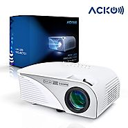"Acko Portable Mini HD LED Video Projector Office Home Theater 1200 LM Multimedia Outdoor 20""-150"" HDMI VGA USB AV SD ..."
