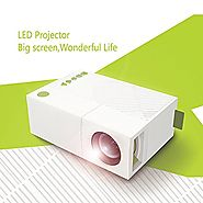 WEILIANTE Mini LED HD Projector Home Theatre Cinema Video Projector Connection with iPhone Android iPad Tablet for Ho...
