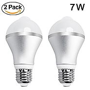 Aukora 7W Motion Sensor Lights Bulb - E26/E27 Motion Activated Led Dusk to Dawn Light Bulbs with Auto Switch for Fron...