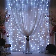 Curtain Icicle Lights, AGPtEK 3M X 3M 8 Modes White Fairy String Lights for Christmas Wedding Home Garden Outdoor Win...