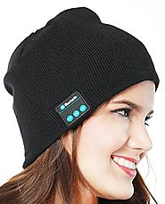 ZenNutt Unisex Bluetooth Beanie 4.1 Winter Hat Black Knit Cap Wireless Musical Running Headphones Cap with 2 Speakers...