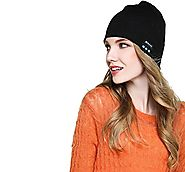 Wireless Bluetooth Beanie Hat, Charm sonic Soft Warm Beanie Hat Wireless Bluetooth Smart Cap Headset Headphone Speake...