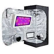 TopoLite 300W/ 600W/ 800W/ 1200W Full Spectrum LED Grow Light + Multiple Size Grow Tent Dark Room Indoor Hydroponic S...