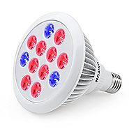 24W LED Grow Light Bulb, UNIFUN E27 Growing Plant Lamp for Greenhouse Hydroponic Aquatic Indoor Plants