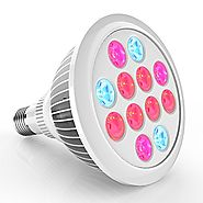 Erligpowht LED Grow Lights, 24W Plant Lights E27 Growing Bulbs 3 Wavelengths Tailored LED Grow Lamps for Garden Green...