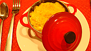 Mac & Four Cheese Gratin with Truffle Oil in Le Creuset's Mini Cocottes