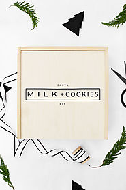 Last Minute DIY Christmas Gift Idea - Santa Milk + Cookies Kit