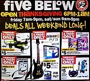 Five Below 2017 Black Friday Ad