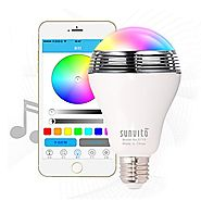 Sunvito Smart LED Bulb Speaker,New Wireless Bluetooth 4.0 Speaker Music LED Playbulb E27 Dimmable RGB LED Light Bulb ...