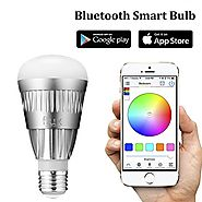 Flux Bluetooth LED Smart Bulb - Wireless Multi Color Changing Light For Kitchen, Bedroom- App Controlled Sunrise Wake...