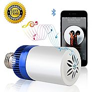 Light Bulb with Bluetooth Speaker,Led Smart Music Bulb,Wireless Bluetooth Light Bulb Speaker Controlled by Smartphone...