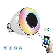 LightStory Bluetooth Light Bulb Speaker, 8W E26 Base RGB Color Changing LED Music Bulb, Multicolor Wireless Bluetooth...