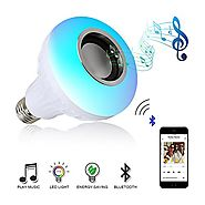 Oyep Music Light Bulb- Led Light Bulb with Bluetooth Speaker,RGB Light Bulb E27 Built-in Audio Speaker with Remote Co...