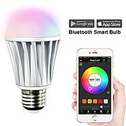 MagicLight Bluetooth Smart Light Bulb - 60w Equivalent Wake Up Lights - Multicolored Color Changing Disco Light - Dim...