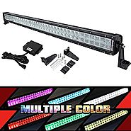 "52"" RGB LED Light Bar Multi-Color Combo Lamp Neon Light By Bluetooth APP for Offroad 4x4 Jeep Truck ATV SUV Boat with..."