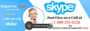 Skype Support Number (1-800-296-0228) for Fixing Any Type of Technical Issues