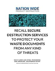 Recall Secure Destruction Services to Protect Your Waste Documents from Any Kind of Threats