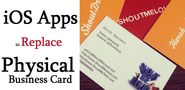 Best iOS Apps to Replace Physical Business Card - Save Paper