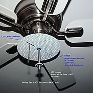 "Dual Light Output - 7"" Diameter VERY BRIGHT COOL WHITE (6000K) LED Panel for Ceiling Fan Light -- 3700Lumens 17Watts ..."