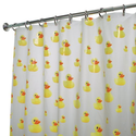 InterDesign EVA Rubber Ducky Shower Curtain