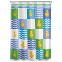 Colormate Rubber Duck Shower Curtain Peva 70 X 72 In