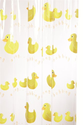 Croydex AE579925YW Bobbing Along Shower Curtain, White/Yellow