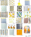 Adorable Rubber Ducky Shower Curtain Selection - Super Cute Yellow Rubber Ducks!