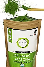 Matcha Green Tea Powder - Superior Culinary - USDA Organic From Japan -Natural Energy & Focus Booster Packed With Ant...