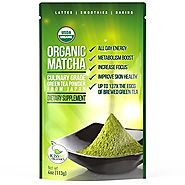 Matcha Green Tea Powder - Japanese Organic Culinary Grade Matcha - 4 oz (113 grams) - Increases Energy and Focus and ...