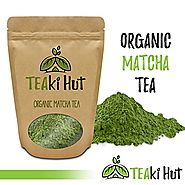 TEAki Hut Organic Matcha Green Tea Powder 2 Ounce (50 Servings) Culinary Grade | Excellent Weight Loss Benefits | Mor...
