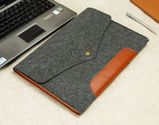 "Genuine Leather Fit 13"" Macbook Pro Retina 13'' Macbook Air New / Old Felt Sleeve Laptop Sleeve Case Custom Made Hand..."