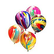 LED Light-Up Balloons Party Favors - Tie Dye Edition (5 Pack)