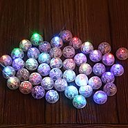 Neo LOONS 100pcs/lot 100 X Multicolor Round Led Flash Ball Lamp Balloon Light long standby time for Paper Lantern Bal...