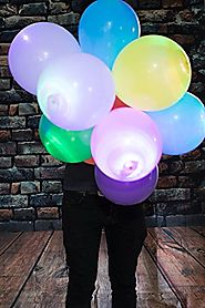 LED Light up Balloons 15 Mixed color Party Pack by ALCHEMY PARTY