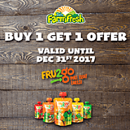 FRU2go healthy fruit snack with Buy 1 Get 1 Offer.