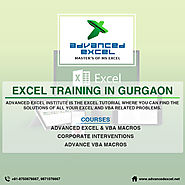 Excel Training in Gurgaon | Advanced Excel Training in Gurgaon