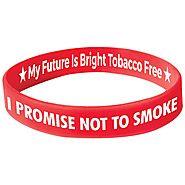 Great American Smokeout- Quit Smoking With Custom Rubber Wristbands - Make Your Wristbands