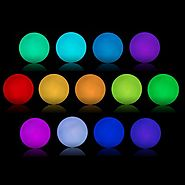 AsoKe 4.7-inch Floating LED Pool Glow Light Orb Ball Outdoor Living Garden Light Decor Waterproof Color Changing Ball...