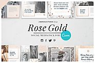 ROSE GOLD | Canva Social Media Pack