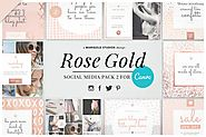 ROSE GOLD | Social Media Pack 2