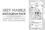 Grey Marble and White Instagram Pack