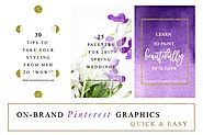 Purple & Gold Social Media Templates