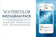 Blue Watercolor Instagram Pack