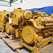 ITEM# E4201 - CATERPILLAR 3412E MARINE 635HP, 1800RPM DIESEL ENGINE